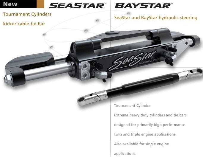 seastar hydraulic Boat Steering works