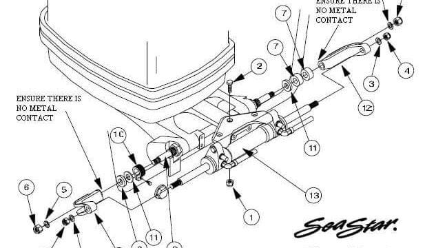 SeaStar HC5345 Parts Diagram, Seal Kit & Capacity Specifications