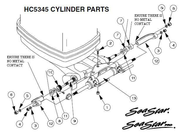 SeaStar HC5345 Parts Diagram